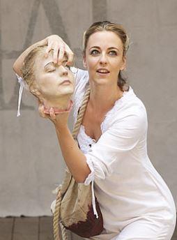 Miranda Raison as Anne Boleyn.