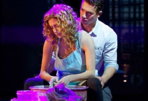 Caissie Levy and Richard Fleeshman in Ghost.