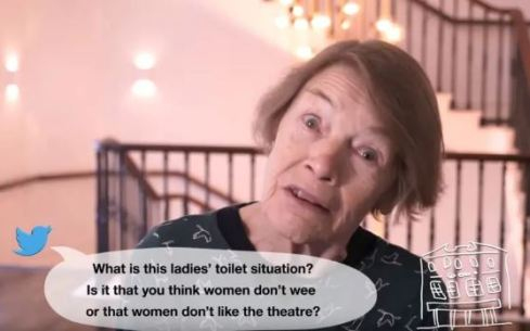 Glenda Jackson in The Old Vic's #MORELOOS campaign