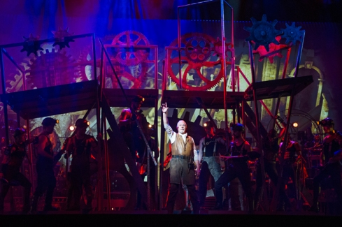 David Essex (The Voice Of Humanity) in The War Of The Worlds.  Photo credit: Tristram Kenyon.