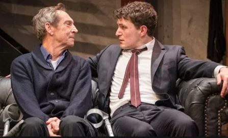 Jonathan Hyde and Ben Allen in Gently Down The Stream. Photo by Marc Brenner.