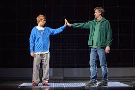 Sam Newton as Christopher. Photo from the UK tour of The Curious Incident of the Dog in the Night-Time