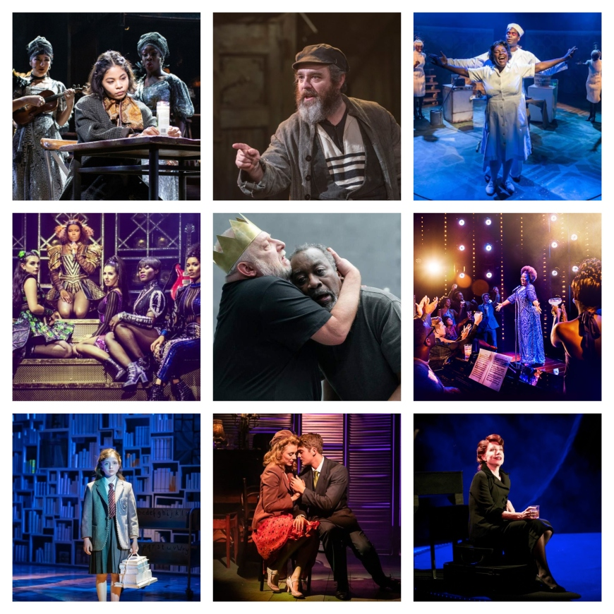 Hadestown, Fiddler on the Roof, Caroline or Change, Six, The Tragedy of King Richard the Second, Dreamgirls, Matilda, Aspects of Love, Songs for Nobodies