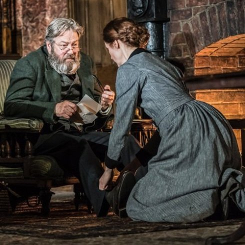 Roger Allam and Justine Mitchell.