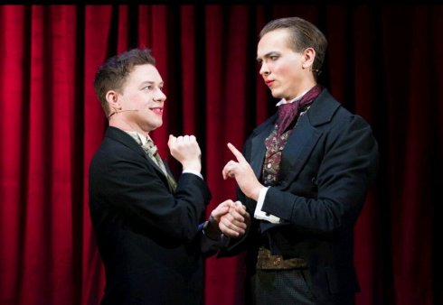 Kieran Parrott and Tobias Charles in Fanny and Stella.