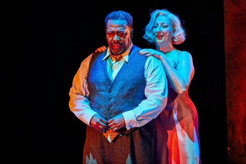 Wendell Pierce and Maggie Service in Death of a Salesman